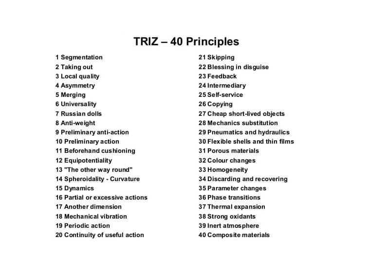 چهل اصل TRIZ